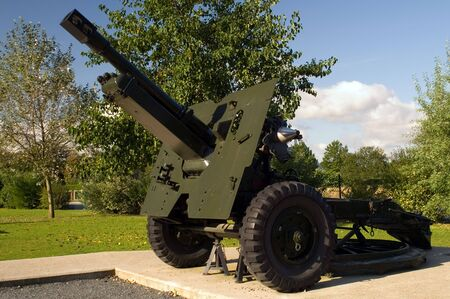 allies: 25 Pounder Field Gun used by allies during second world war. Stock Photo
