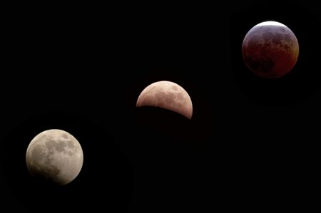 lapse: Time Lapse photography of the Lunar Eclipse - landscape orientation