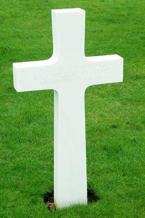 cambridgeshire: Grave Stones at the American Cemetery at Madingley, Cambridgeshire, England