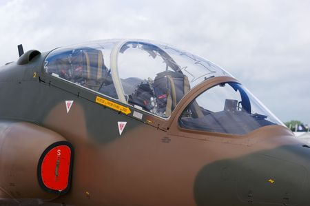 royal air force: Close up of Royal Air Force Hawk Jet Trainer