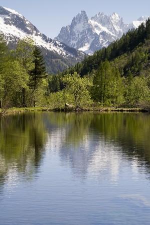 blanc: The Mont Blanc mountain range in Chamonix