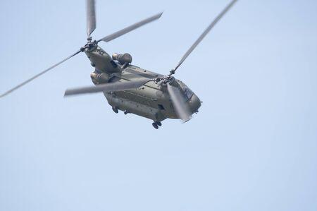 chinook: Boeing Vertol elicottero Chinook durante terra ruolo di sostegno Archivio Fotografico