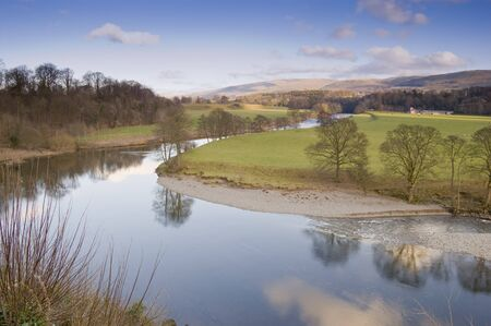 dales: Lune Valley in the Yorkshire Dales National Park England Stock Photo
