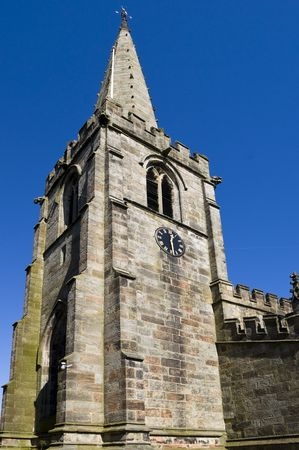 exceptionally: St. Michael and All Angels Church Hathersage.  An exceptionally long grave in the churchyard is said by tradition to hold the body of Robin Hoods friend Little John