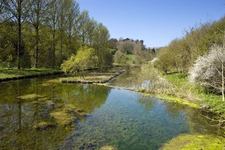 derbyshire: Lathkill Dale in Peak District National Park Derbyshire England