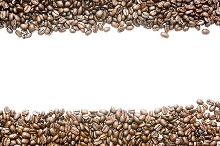 colombian food: Fair Trade Pure Colombian whole coffee beans Stock Photo