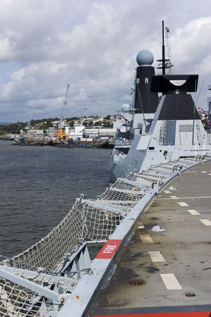 Warship in Her Majestys Naval Base Devonport in Plymouth photo