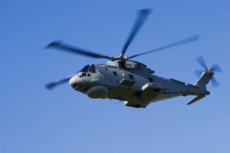 merlin: Royal Navy Anti-Submarine Warfare Merlin HM1 helicopter Stock Photo