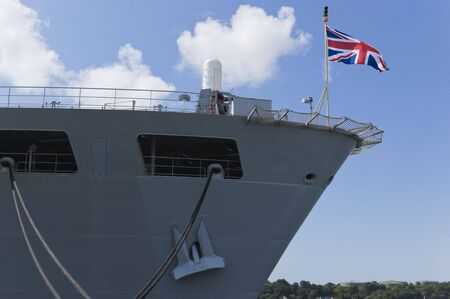 plymouth: Warship in Her Majestys Naval Base Devonport in Plymouth