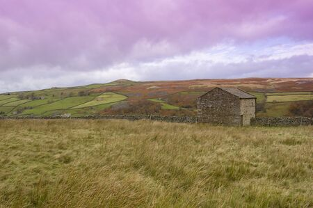 yorkshire dales: Swaledale en la Inglaterra de Yorkshire del norte de Yorkshire Dales