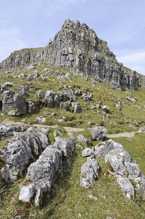 ing: Ing Scar Crag and Watlowes near Malham North Yorkshire National Park England