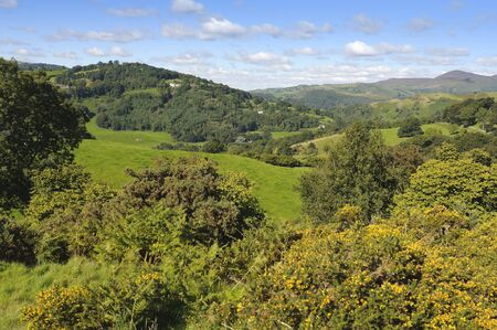View from Castell Dinas Bran above Llangollen in Denbighshire Wales UK photo