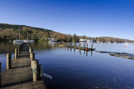 Lake Windermere in Lake District National Park Cumbria England photo