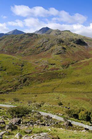 View of Snowdon (Yr Wyddfa) in Snowdonia National Park Gwynedd North Wales photo