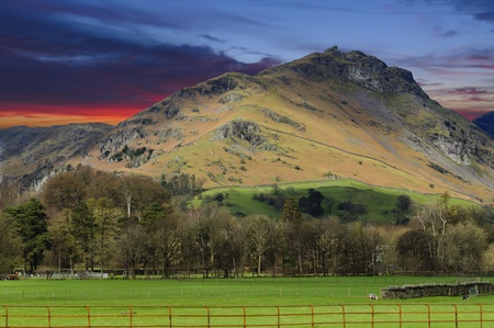 lion and lamb: Helm Crag (The Lion and the Lamb) in Lake District National Park Cumbria England