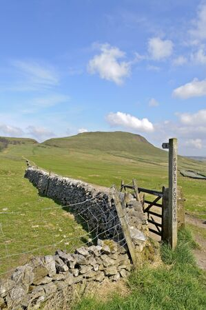 Footpath to Mam Tor near Castleton in the Peak District National Park Derbyshire England photo