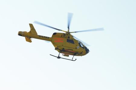 RAF Waddington - 2 JULY UK: Air Ambulance at Waddington International Airshow 2 July, 2011 Waddington England UK Stock Photo - 9890947
