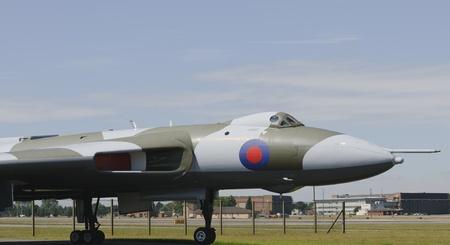 raf waddington: RAF WADDINGTON 19 JULY UK: Avro Vulcan Bomber at RAF Waddington UK 19 JULY 2010