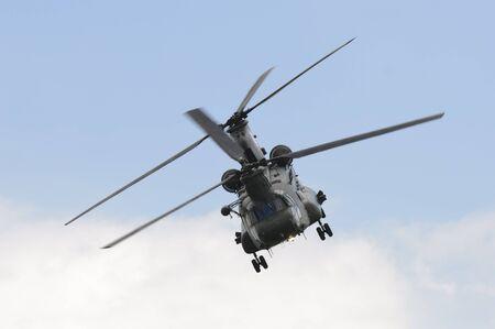 raf waddington: WADDINGTON, ENGLAND, UK - JULY 2: Chinook HC2 from No.18 Squadron at Waddington International Air Show on July 2, 2011 in Waddington, England, UK.