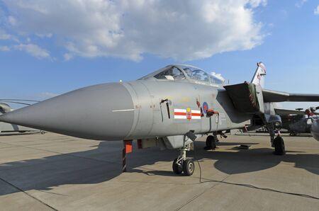 raf waddington: WADDINGTON, ENGLAND, UK - JULY 2: Tornado GR4 from XV(R) Squadron RAF at Waddington on July 2, 2011 in Waddington, England, UK. Editorial