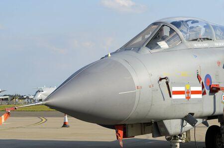 raf waddington: WADDINGTON, ENGLAND, UK - JULY 2: Tornado GR4 from 41(R) Squadron RAF at Waddington on July 2, 2011 in Waddington, England, UK. Editorial