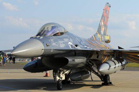 raf waddington: WADDINGTON, ENGLAND, UK - JULY 2: Belgian Air Force F-16AM at Waddington International Air Show on July 2, 2011 in Waddington, England, UK.  Editorial