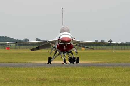 usaf: WADDINGTON, ENGLAND, UK - JULY 3: USAF  Thunderbirds at Waddington International Air Show on July 3, 2011 in Waddington, England, UK. Editorial