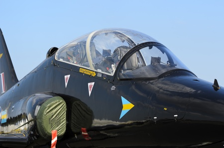 raf waddington: WADDINGTON, ENGLAND, UK - JULY 3: RAF Hawk T1 from 208(R) Squadron at Waddington International Air Show on July 3, 2011 in Waddington, England, UK.