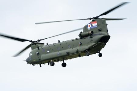 WADDINGTON, ENGLAND, UK - JULY 3: Chinook HC2 from No.18 Squadron at Waddington International Air Show on July 3, 2011 in Waddington, England, UK. Stock Photo - 10086252