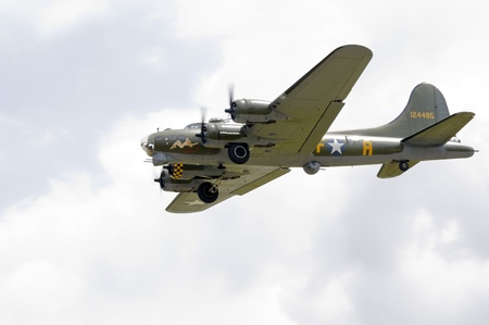 raf waddington: WADDINGTON, ENGLAND, UK - JULY 2: Sally B Boeing B-17G-105-VE at Waddington International Air Show on July 2, 2011 in Waddington, England, UK. More commonly recognised for being used in the film Memphis Belle.