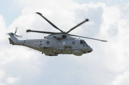 raf waddington: WADDINGTON, ENGLAND, UK - JULY 2: Royal Navy Merlin HM1 from 824 NAS at Waddington International Air Show on July 2, 2011 in Waddington, England, UK. Editorial