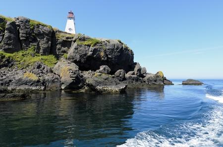 Boars Head Lighthouse built in 1864 in Tiverton Nova Scotia Canada photo