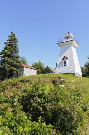 Hampton Lighthouse built in 1911 in Hampton Nova Scotia Canada photo