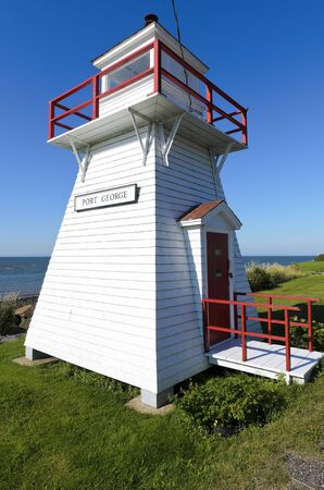middleton: Port George Lighthouse built in 1888 in Middleton Nova Scotia Canada Stock Photo
