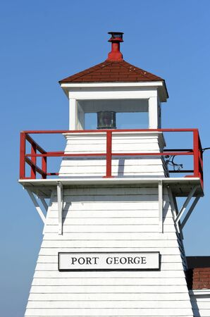 middleton: Port George Lighthouse built in 1888 in Middleton Nova Scotia Canada Editorial