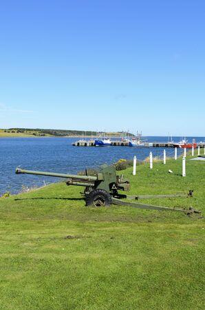 Cheticamp, Nova Scotia - August 24th, 2011: Cheticamp War Memorial Cape Breton Island Nova Scotia Canada