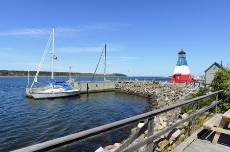 Cheticamp, Nova Scotia - August 24th, 2011: Boats moored in Cheticamp Cape Breton Island Nova Scotia Canada