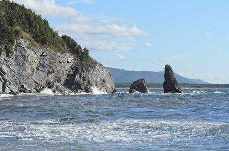 Bay of St Laurence on Cabhot Trail Cape Breton Island Nova Scotia Canada photo