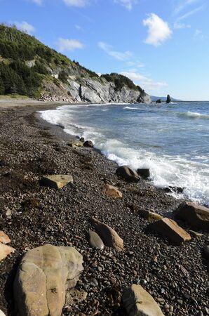 Pillar Rock on Cabot Trail Cape Breton Island photo