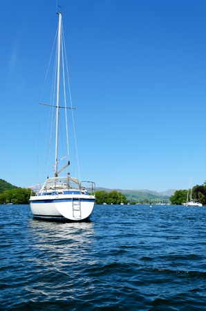 View across Lake Windermere from Lilies of the Valley in Lake District National Park England Stock Photo - 14503809