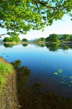 Near Sawery, England - May 26th, 2012  Esthwaite Water is a first class, well managed Trout fishery  It is a beautiful natural 280 acre water situated in the heart of the English Lake District with excellent facilities for boat or bank fishing Stock Photo - 14546328