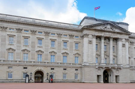London, England - June 30th, 2012: The east facade of Buckingham Palace which is the official London residence of Queen Elizabeth II.