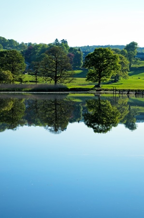 Esthwaite Water in the Lake District National Park Cumbria England Stock Photo - 18150808
