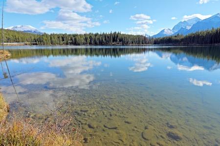 Herbert Lake and Whitehorn Mountain Banff National Park Alberta Canada photo