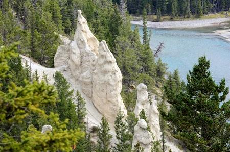 hoodoos: The Hoodoos and the Bow River Banff National Park Alberta Canada