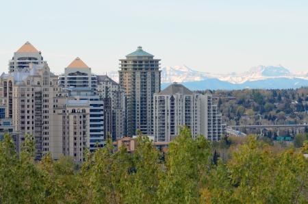 bluff: Calgary, Canada - October 7th, 2012: View of Calgary from McHugh Bluff Park Alberta Canada
