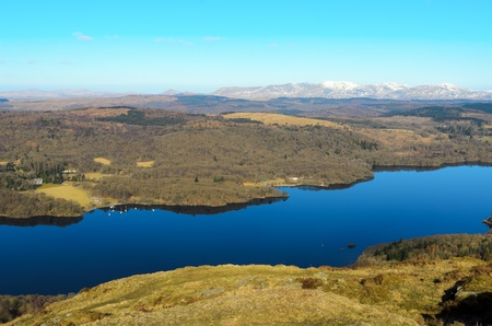 View of Lake Windermere from Gummers How in Lake District National Park Cumbria England Stock Photo - 23130990