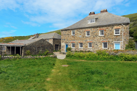 quin: Port Quin, England - May 7th, 2013  Holiday cottage in the small hamlet of Port Quin on the coast of Cornwall