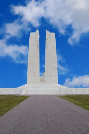 expeditionary: The Canadian National Vimy Memorial dedicated to the memory of Canadian Expeditionary Force killed in France Stock Photo