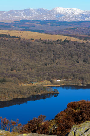 View of Lake Windermere from Gummers How in Lake District National Park Cumbria England Stock Photo - 26065958